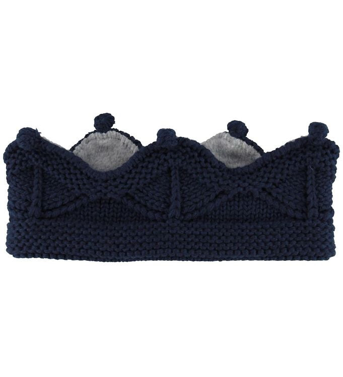 Mini A Ture Pandebånd - Cinni - Uld/Polyester - Peacoat Blue